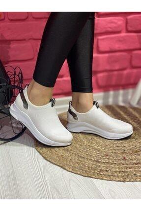 Kadın Beyaz Bez Spor Ayakkabı ONR349