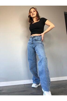 monigiyim Kadın Mavi Azula Pantolon 2