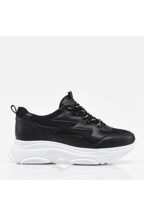 Hotiç Siyah Yaya Kadın Spor Ayakkabı 0