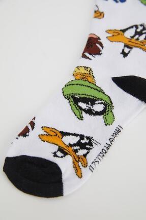 Defacto Erkek Çocuk Looney Tunes Lisanslı 2'li Soket Çorap 4