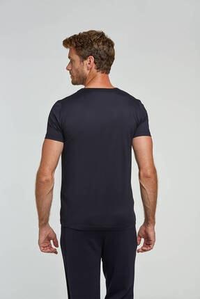 Hemington Erkek Lacivert V Yaka Basic T-shirt 2