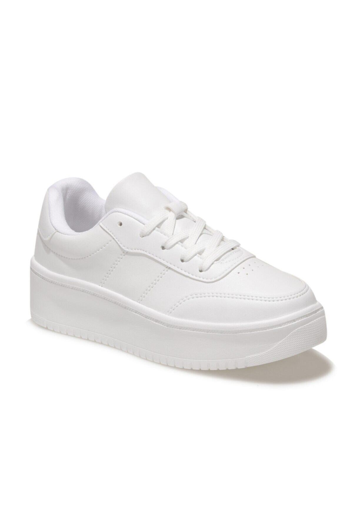LIZA 1FX Beyaz Kadın Havuz Taban Sneaker 100586942