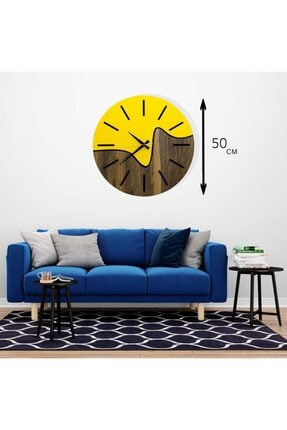 hediyekolisi Dekoratif Iki Renkli Ahşap Duvar Saati 1