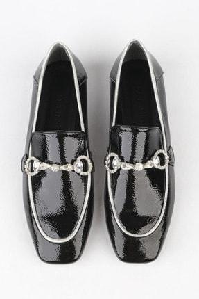 Marjin Kadın Siyah Rugan Loafer Ayakkabı Ateni 2