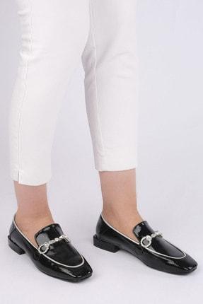 Marjin Kadın Siyah Rugan Loafer Ayakkabı Ateni 4