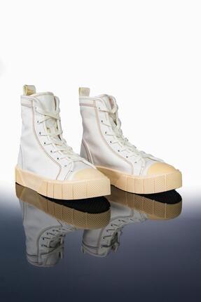 LETOON Kadın Beyaz Yüksek Bilekli Spor Ayakkabı Ltn2021 0