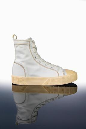 LETOON Kadın Beyaz Yüksek Bilekli Spor Ayakkabı Ltn2021 3