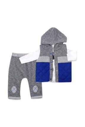 Hippıl Baby Erkek Bebek Gri Şişme Yelekli 3 Lü Bebek Takımı 3035 1
