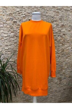 SOUL BY LOREEN FASHİON Kadın Düz Renk Rahat Kalıp Sweatshirt 1