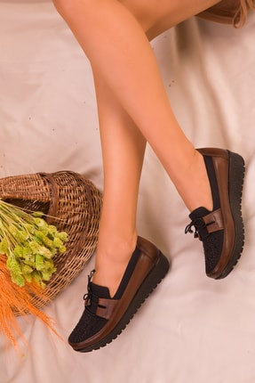 Soho Exclusive Taba-Siyah Kadın Casual Ayakkabı 15429 1