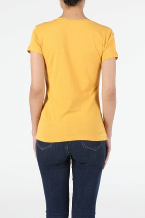 Colin's Sarı Kadın Kısa Kol Tişört 1