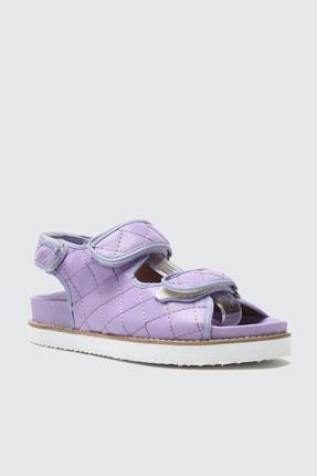 TRENDYOLMİLLA Lila Kapitone Detaylı Kadın Sandalet TAKSS21SD0020 3