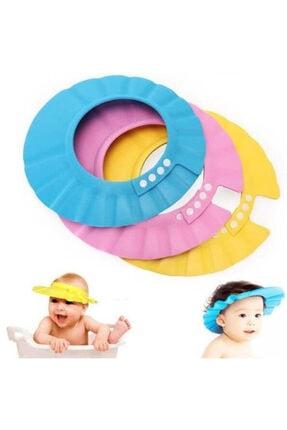 Zeki Karga 0-5 Yaş Çocuklar Için Düğmeli Su Kaçırmaz Bebek Banyo Duş Şapkası 2