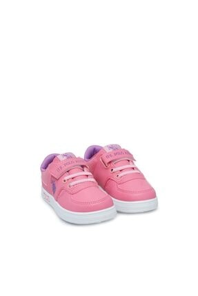 US Polo Assn CAMERON 1FX Pembe Kız Çocuk Sneaker 100909738 2