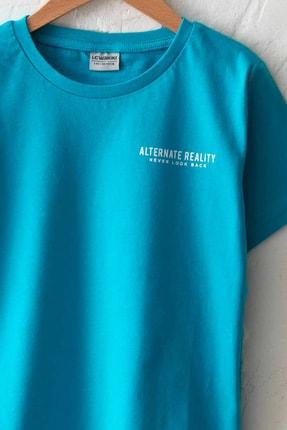 LC Waikiki Erkek Çocuk Turkuaz Gbs T-Shirt 2