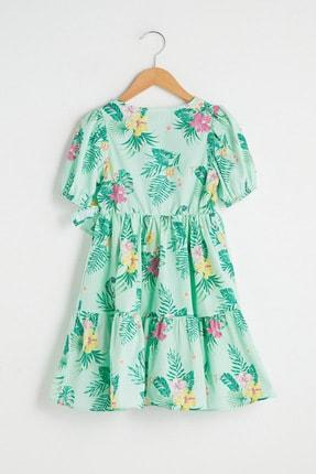 LC Waikiki Kız Çocuk Nane Yeşili Bask Lrl Elbise 1