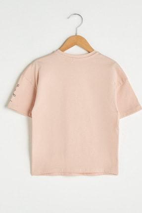 LC Waikiki Kız Çocuk Mat Pembe G2J T-Shirt 1