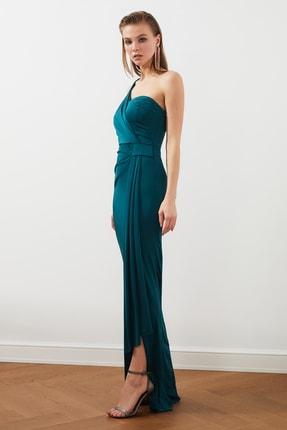 TRENDYOLMİLLA Zümrüt Yeşili Bel Detaylı  Abiye & Mezuniyet Elbisesi TPRSS20AE0117 2
