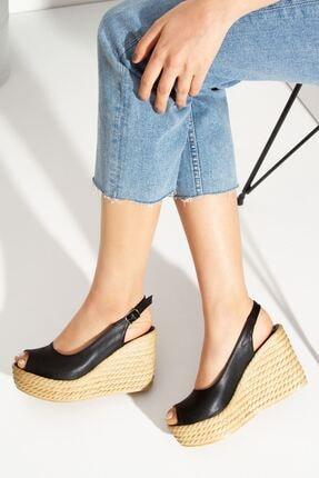 derithy Lewis Dolgu Topuklu Ayakkabı-siyah-lzt0535 4