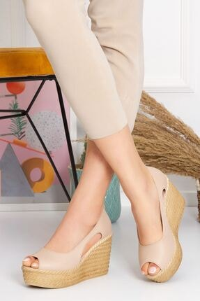 derithy Older Dolgu Topuklu Ayakkabı-ten-lzt0536 3