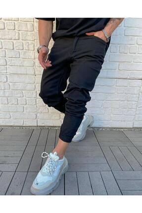 Cocers Erkek Siyah Paçası Lastikli Jogger Pantolon 0