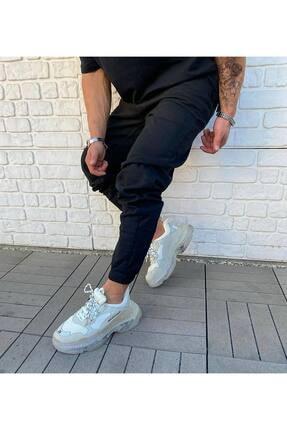 Cocers Erkek Siyah Paçası Lastikli Jogger Pantolon 1