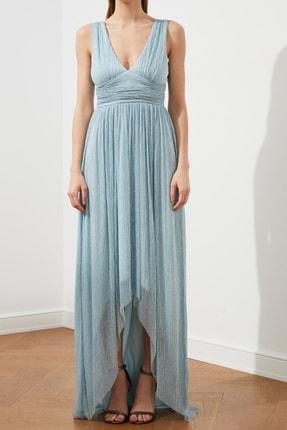 TRENDYOLMİLLA Açık Mavi Bel Detaylı  Abiye & Mezuniyet Elbisesi TPRSS20AE0081 2