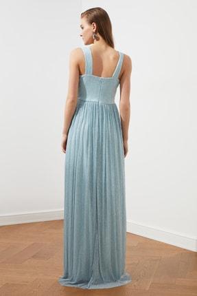 TRENDYOLMİLLA Açık Mavi Bel Detaylı  Abiye & Mezuniyet Elbisesi TPRSS20AE0081 4