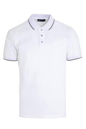Hatemoğlu Erkek Beyaz Baskılı Polo Yaka Tişört 0