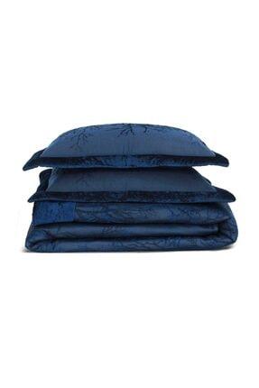 Elart Lacivert Çift Kişilik Yatak Örtüsü Çeyiz Paketi 1