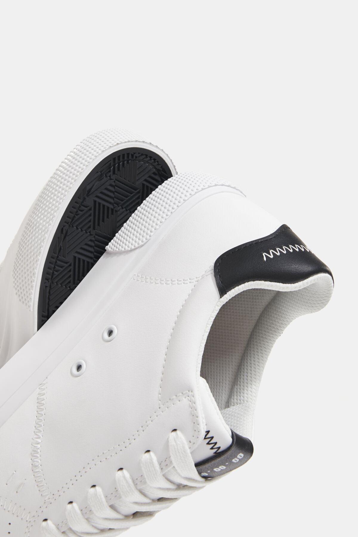 Bershka Erkek Beyaz Kontrast Spor Ayakkabı 12400760 4