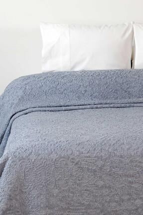 Elart Mavi Embos Battaniye Etnik Desen Çift Kişilik Battaniye 220x240cm 2