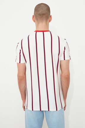 TRENDYOL MAN Beyaz Erkek Regular Fit  T-Shirt TMNSS21TS2021 3