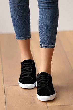 Pembe Potin Kadın Siyahsüet Ayakkabı 2