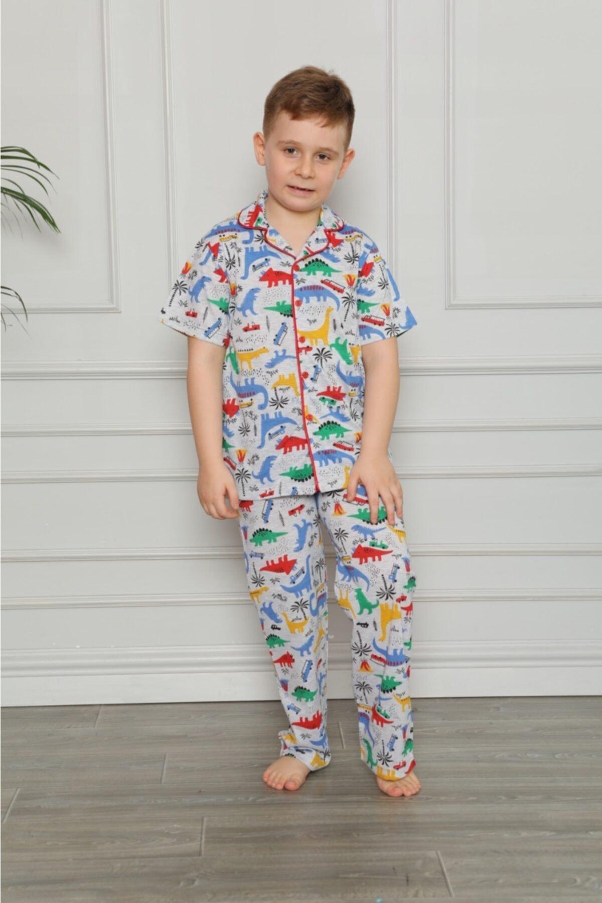 Erkek Çocuk Turuncu Pijama Takımı