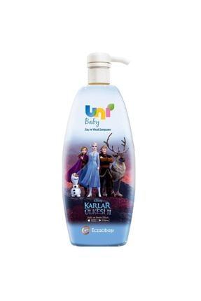 Uni Baby Unisex Frozen Boyasız Saç Ve Vücut Şampuanı 700 ml 0
