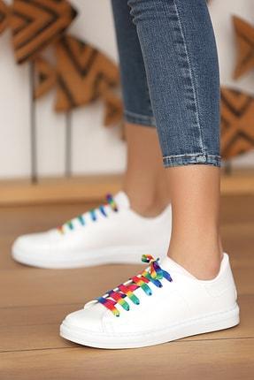 Pembe Potin Kadın Beyaz Multi Ayakkabı 1