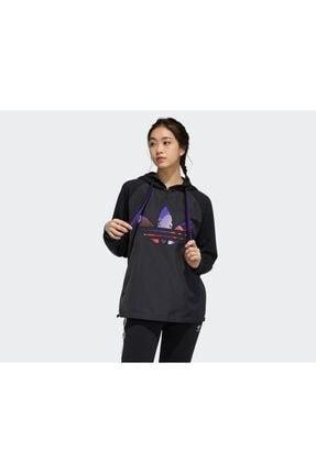 adidas Kadın Günlük Sweatshirts Gn4736 Siyah Cny Hoody 1