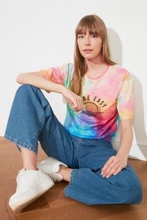 TRENDYOLMİLLA Çok Renkli Loose Örme T-Shirt TWOSS21TS1759 1