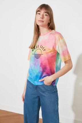 TRENDYOLMİLLA Çok Renkli Loose Örme T-Shirt TWOSS21TS1759 2