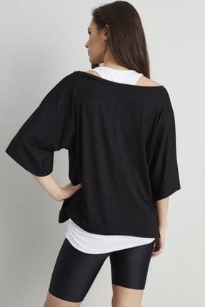 Cool & Sexy Kadın Siyah-Beyaz İkili Salaş T-shirt BK1101 3