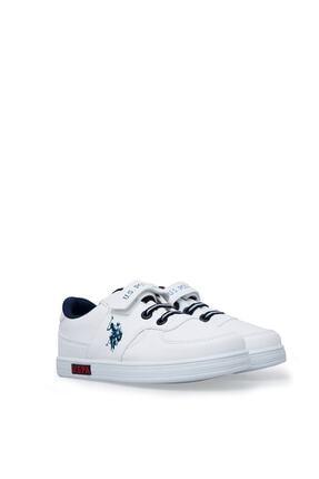 US Polo Assn Cameron Beyaz Erkek Çocuk Sneaker Ayakkabı 100380400 2