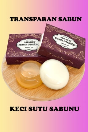 Sabuncu mehmet efendioğlu Transparan Sabun Ve Keçi Sütü Sabunu 90x2 180 Gr 2 Adet 1