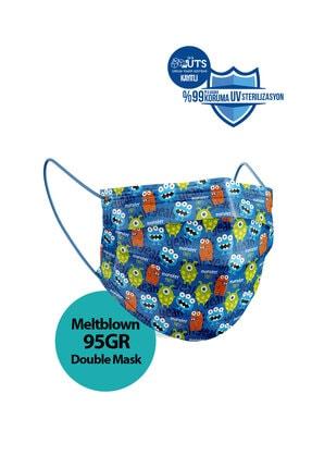 Sabomar Medizer Meltblown Ultrasonik Cerrahi Erkek Çocuk Maskesi 50 Adet - Telli - 10'ar Adet 5 Farklı Desen 4