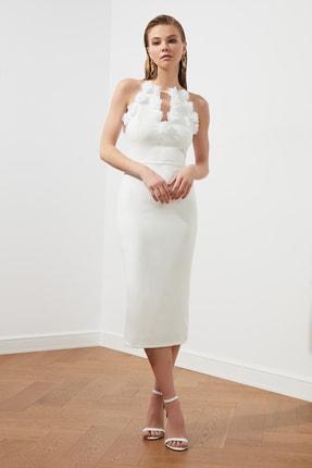 TRENDYOLMİLLA Ekru Aplike Detaylı Elbise TPRSS20EL2715 0