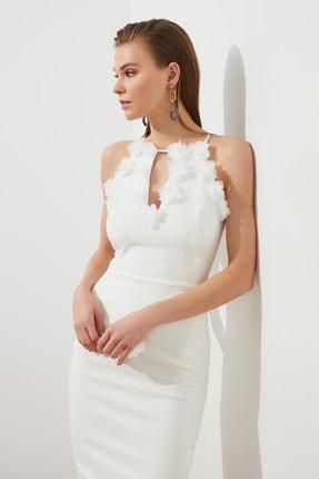 TRENDYOLMİLLA Ekru Aplike Detaylı Elbise TPRSS20EL2715 1
