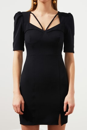 TRENDYOLMİLLA Siyah Kulplu  Elbise TPRSS20EL3190 2