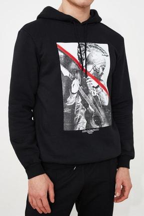 TRENDYOL MAN Siyah Erkek Baskılı Sweatshirt TMNAW21SW0979 2