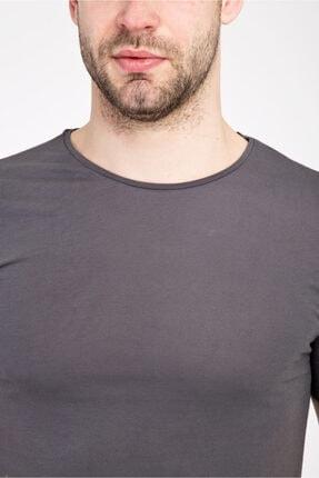 Kiğılı Bisiklet Yaka Slim Fit Tişört 3