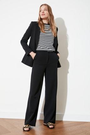 TRENDYOLMİLLA Siyah Dökümlü Geniş Paçalı  Pantolon TWOAW21PL0332 1